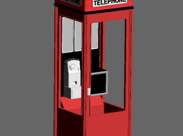 K8 Telephone Box - OO (1:76) scale 3d printed Coloured quick render