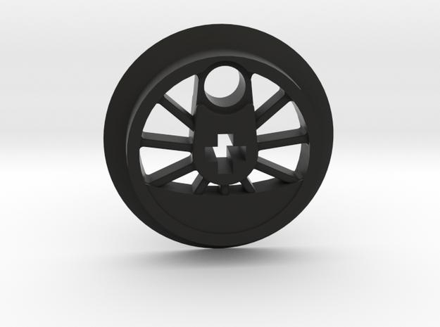 Medium Driver No Traction Groove in Black Natural Versatile Plastic