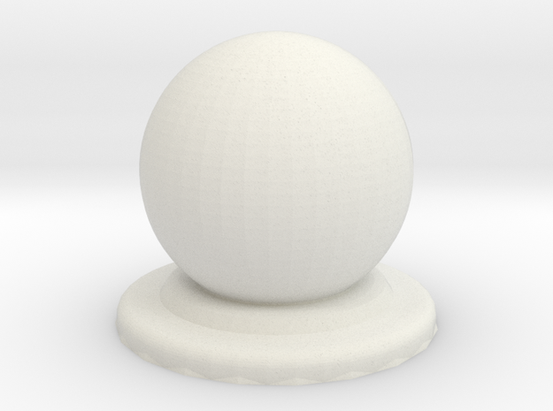 Sphere Piece Smoother in White Natural Versatile Plastic