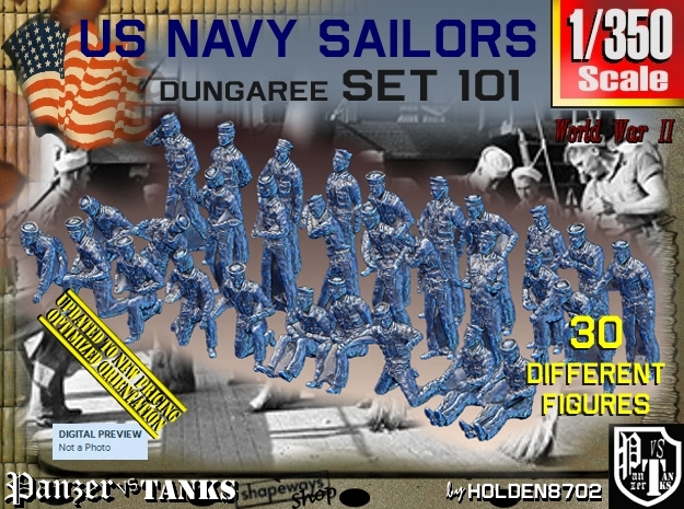 1/350 USN Dungaree Set 101