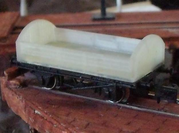 Round ended wagon in Smooth Fine Detail Plastic