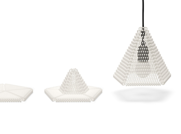 ZooM lampshade L - 27 rows 3d printed (medium sized Zoom shown here)