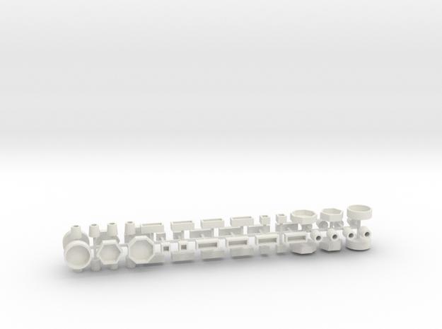 Stadtmöbelset 2 DDR 52 Teile 1:100 in White Natural Versatile Plastic