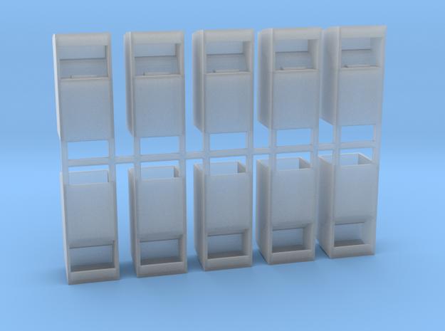 Altkleidercontainer 10er Set 1:100 in Smooth Fine Detail Plastic