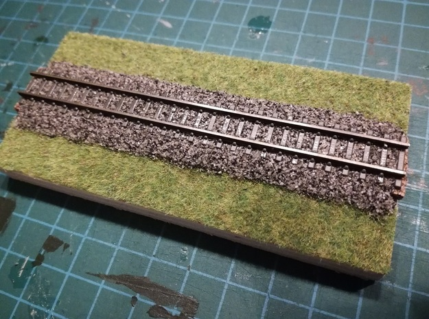 Nm flexible track for code 55 profiles in Smooth Fine Detail Plastic