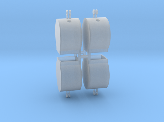 Altglascontainer Trommel 4erSet 1:72 in Smooth Fine Detail Plastic