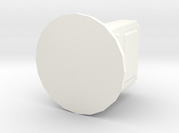 Tv GamePiece in White Processed Versatile Plastic