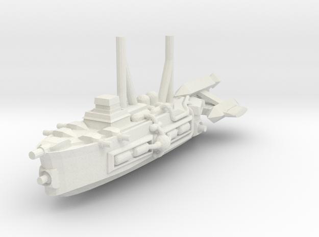 German Destroyer S1 in White Natural Versatile Plastic