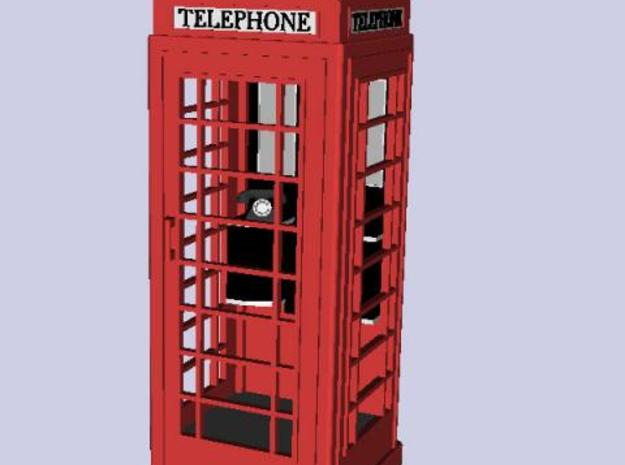 K6 Telephone Box (kiosk) - OO scale (1:76) 3d printed Qucik Render