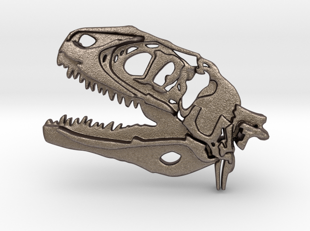 Metal Trex in Polished Bronzed Silver Steel: Small