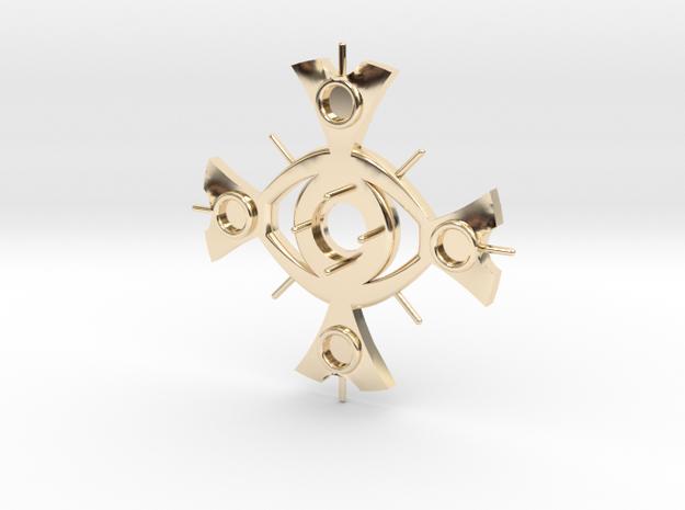 Ceridenkreuz deluxe in 14k Gold Plated Brass