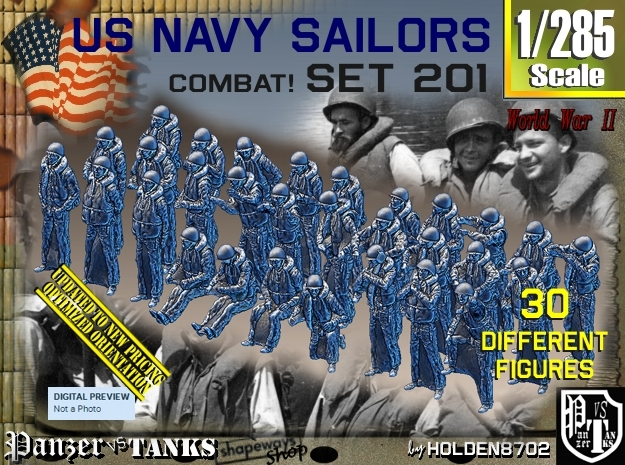1/285 USN Combat set 201 in Frosted Extreme Detail