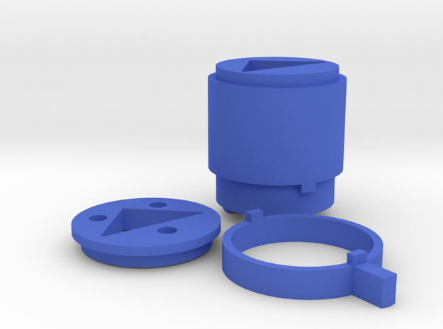 "Mulholland Drive ""Blue Box"" - 4 of 4 - Lock Parts in Blue Processed Versatile Plastic"