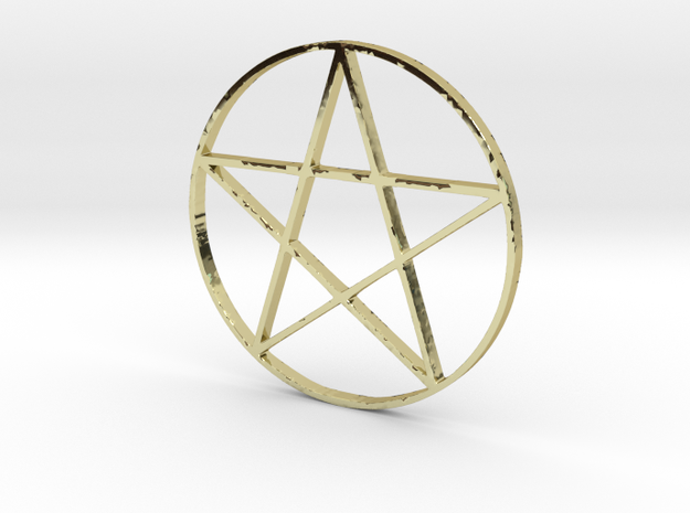 Large Pentagram (Pentacle) in 18k Gold