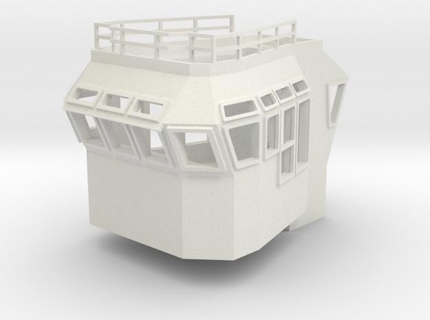 Bridge Superstructure 1/100 fits Harbor Tug  in White Natural Versatile Plastic