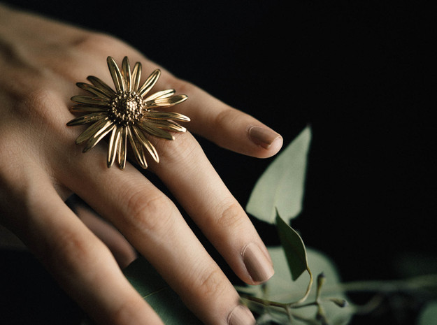 Daisy Ring in Polished Bronze: 6 / 51.5