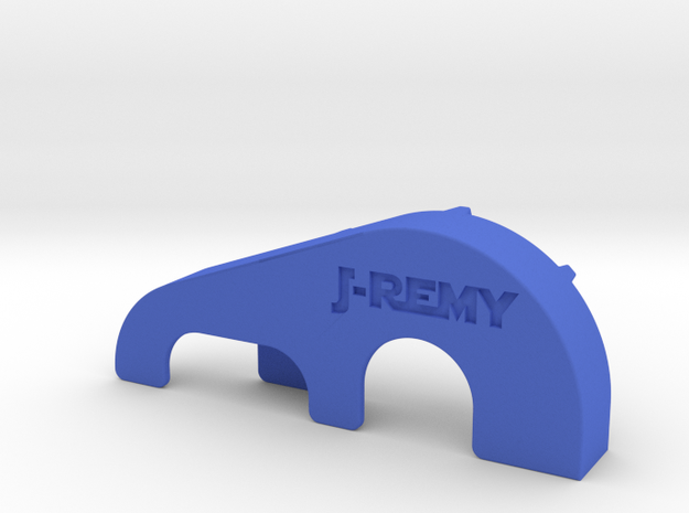 Associated TC4 Club Racer Spur & Pinion Gear Guard in Blue Processed Versatile Plastic