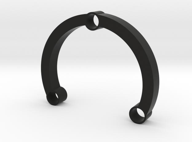 R-type 66 Round in Black Premium Versatile Plastic