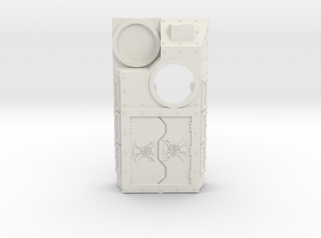 Supressor Topper (Rose and Swords) small in White Natural Versatile Plastic