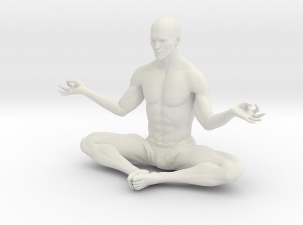 Male yoga pose 010 in White Natural Versatile Plastic: 1:10