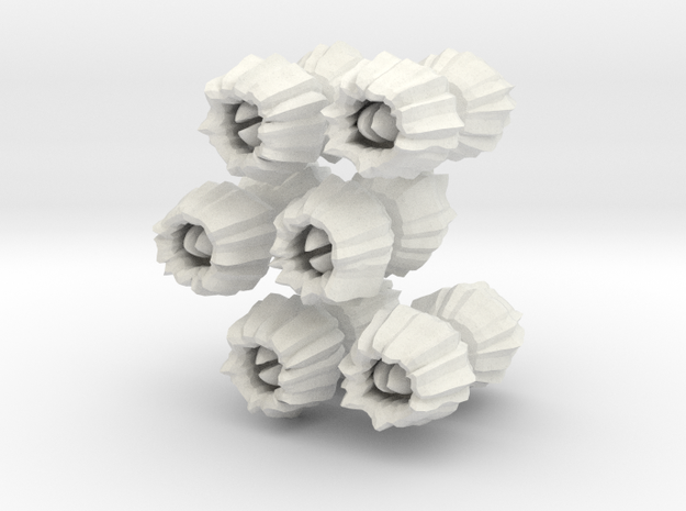 Barnacles, small, set of 12 in White Natural Versatile Plastic