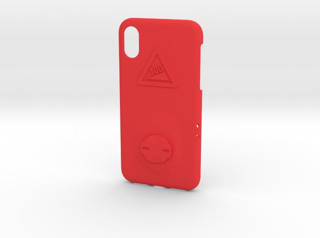 iPhone X Garmin Mount Case - Hill Climb in Red Processed Versatile Plastic