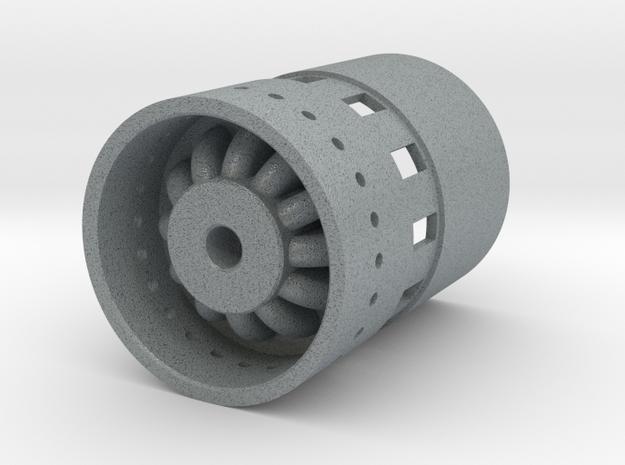 Business End plug version 2 in Polished Metallic Plastic