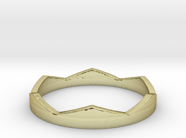 Petit Crown Ring Size 7 in 18k Gold Plated