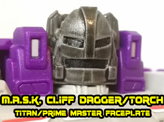 Cliff Dagger Torch Mask (Titans Return) in Smooth Fine Detail Plastic