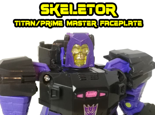 Skeletor Faceplate (Titans Return) in Smooth Fine Detail Plastic