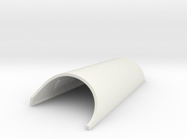 Modular Gauntlet System - Left Bottom in White Strong & Flexible