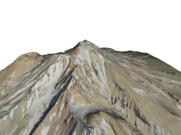 "Mount Shasta Map: 9""x9"" in Full Color Sandstone"