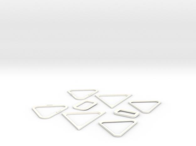 10-Windows in White Processed Versatile Plastic