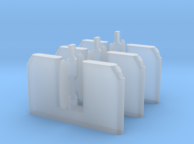Ticket gate 3 pack OO/HO in Smooth Fine Detail Plastic