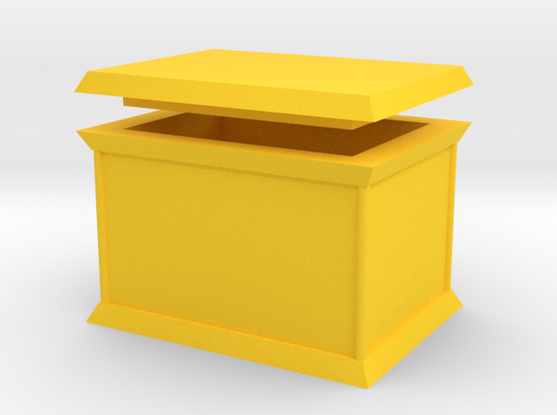 Millennium Puzzle Box size 2 in Yellow Strong & Flexible Polished