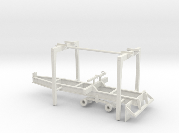 1/50th Pitts Type 22' Pup Log Trailer in White Natural Versatile Plastic