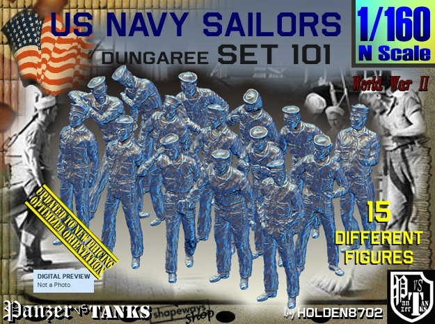 1/160 USN Dungaree Set 101 in Frosted Ultra Detail