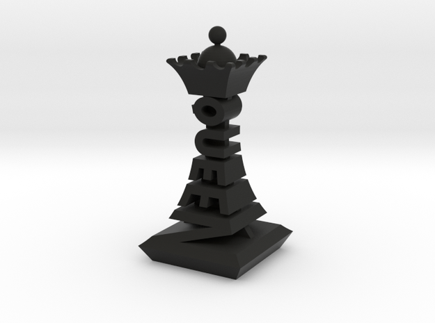 Modern Chess Set - QUEEN in Black Strong & Flexible