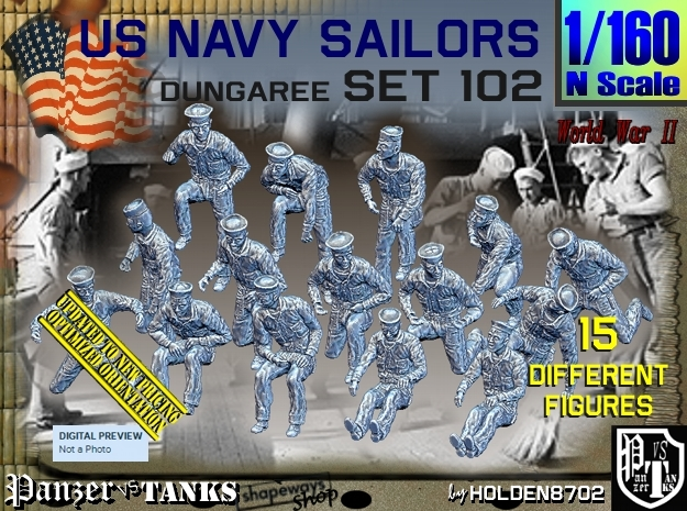 1/160 USN Dungaree Set 102 in Frosted Ultra Detail