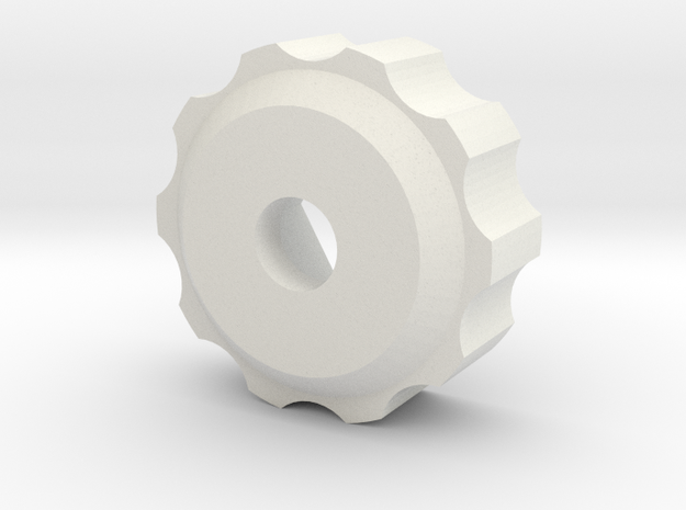 M6 - Knob Low in White Strong & Flexible