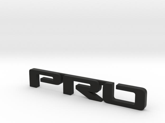 Pro emblem v01 in Black Natural Versatile Plastic