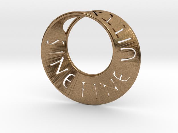 Sine Fine Mobius  in Natural Brass: Small