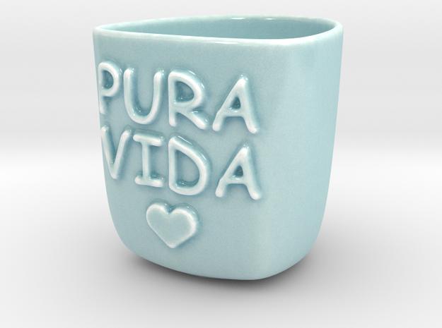 Mug Pura Vida 180ML in Gloss Celadon Green Porcelain