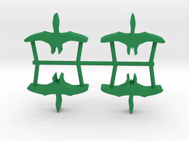Dino Meeple, Pterosaur 4-set in Green Processed Versatile Plastic