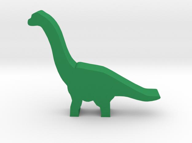 Dino Meeple, Brachiosaurus in Green Processed Versatile Plastic