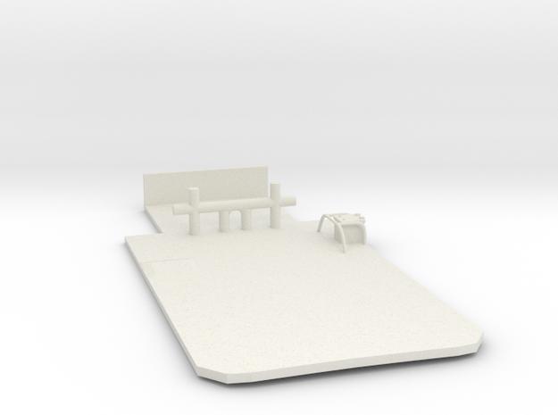 Main Deck Inlay 1/50 V56 fits Harbor Tug in White Natural Versatile Plastic