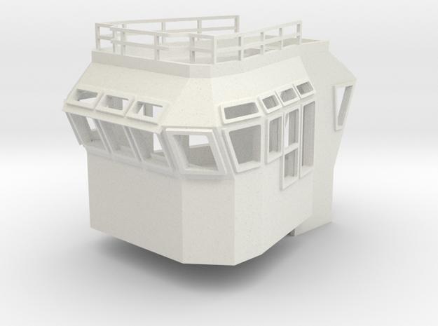 Bridge Superstructure 1/50 fits Harbor Tug  in White Natural Versatile Plastic