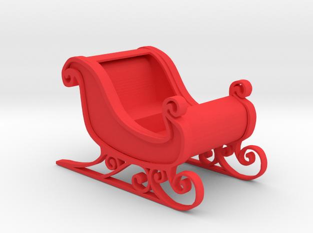 Sleigh in Red Processed Versatile Plastic: 1:64 - S