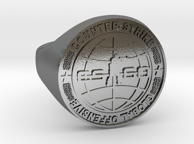 CS:GO Ring in Polished Silver: 5 / 49