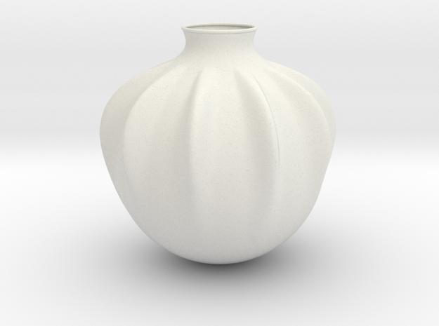 Vase J936 in White Natural Versatile Plastic